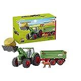 Schleich 42379 Farm World Spielset - Traktor mit Anhänger, Spielzeug ab 3 Jahren