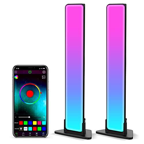 Zuukoo Smart LED Lightbar, RGB Smart LED Lampe mit Mehrere Lichteffekte, LED TV Hintergrundbeleuchtung, Gaming Lampe Sync mit Musik, LED RGB Lampefür Gaming, Filme, PC, TV, Raumdekoration