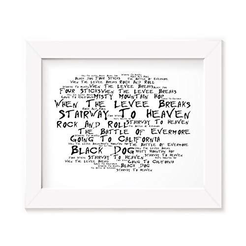 Póster enmarcado de Led Zeppelin con texto en inglés 'Art IV 4' de John Bonham Jimmy Page