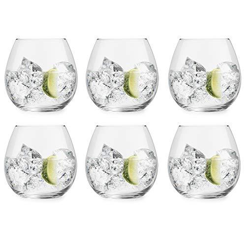 Libbey Gin Tonicglas Cami - 720 ml / 72 cl - 6 Stück - spülmaschinenfest - kein Standfuß - ohne Stiel - modern trendig