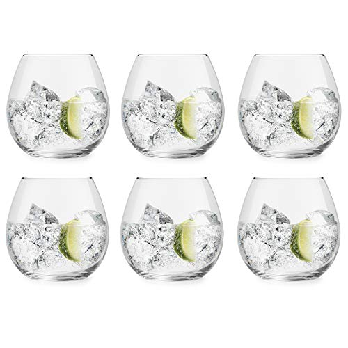 Vaso de Gin Tonic Cami de Libbey – 720 ml/72 cl - 6 unidades – apto para el lavavajillas – sin pie - moderno – de tendencia