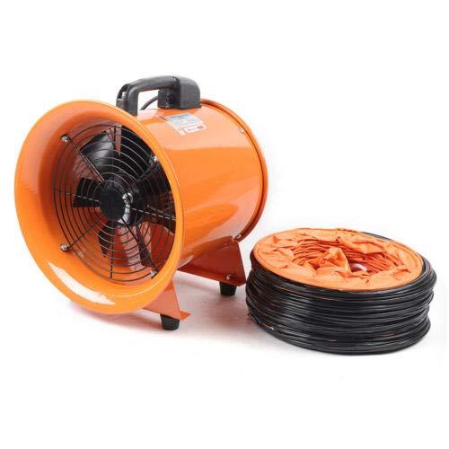 Ventilador Profesional de 12 pulgadas para Construcción Ventilador de Piso Industrial 220 V Ventilador de Tambor 2800RPM
