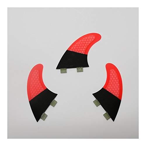 Aletas de Tabla de Surf FCS Long Surf Aletas Aletas Tabla de Surf Propulsores Red de Fibra de Carbono Surf Aletas (Color : Green G7)