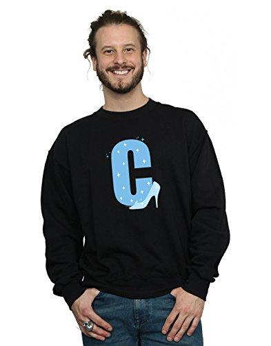 Disney Herren Alphabet C is for Cinderella Sweatshirt Schwarz Medium