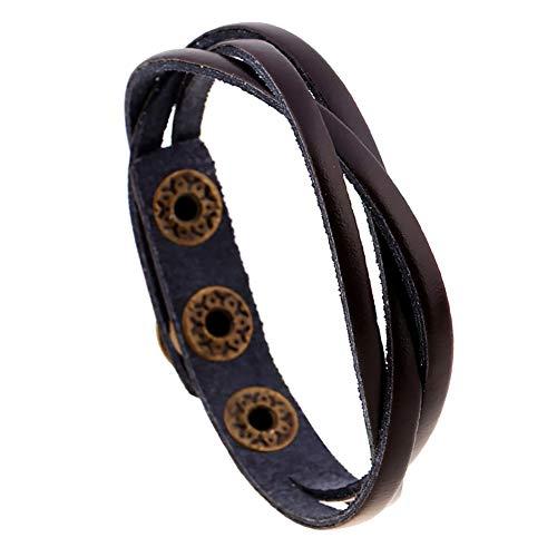 Meigold Bracelet simple en corde à main - Taille réglable - Unisexe - Cadeau d'anniversaire
