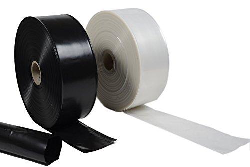 PAMPOLS Bobina de Tubo Flexible de Plástico Protector para Tronco de Árboles, Bolsas de Protección para Plantones, Anti UV y Roedores, Exterior Cultivo de Campo y Huerto, Rollo de 625m Negro