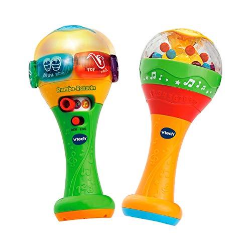 Vtech 80-607544 Rumba-Rasseln bilingual, Babyspielzeug, Mehrfarbig
