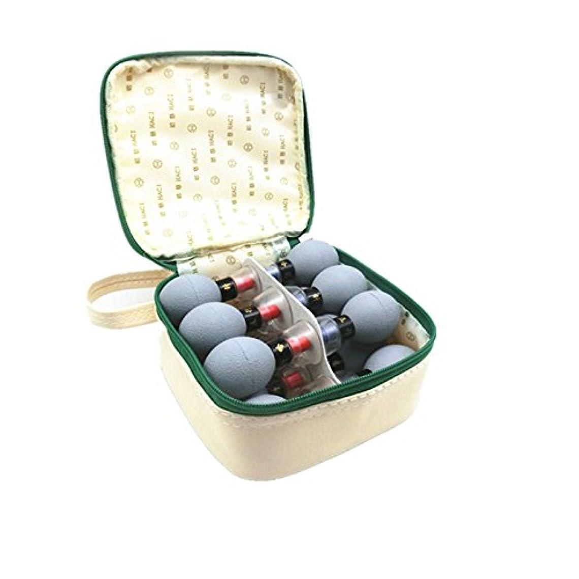 ラッカスプランターとティーム家庭用真空磁気療法指圧吸引カップTCM鍼灸治療用マッサージヘルスケアセット