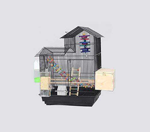 Space- rack Z-W-Dong Maison Type Cage Perruche, Robuste de Boîtes d'élevage en Acier Inoxydable Cages for l'affichage et la visualisation Oiseaux/Cages à Oiseaux (Color : D, Size : 52 * 41 * 70CM)