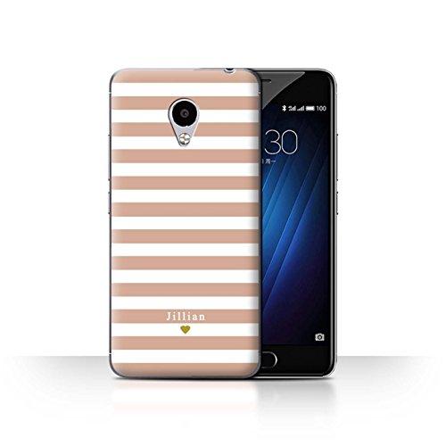 Stuff4Phone Case/Cover/Skin/mzum3s/Custom Stripes/Striped Collection Coeur Rose Nu