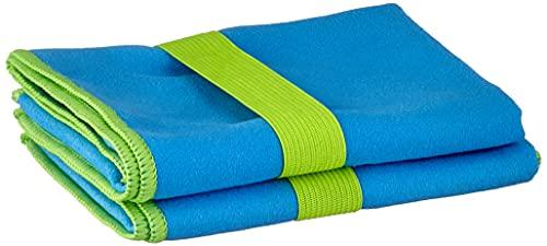 Playshoes Unisex Multifunktionstuch, Badehandtuch Mikrofaser Tragbare Decke, blau, 30 x 50 cm-2er Pack