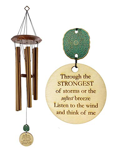 USA Seller Memorial Wind Chime NEW STYLE PCP Ships in 1-2 days Sympathy Gift After Loss in Memory of Loved One Copper Listen to the Wind Memorial Garden Remembering a loved one