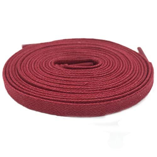 Friendshiy - Cordones de algodón para botas de piel (8 mm de ancho), (1024 Wine Red), 80