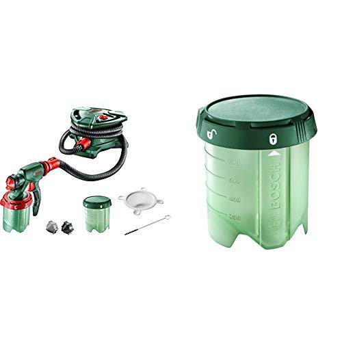 Bosch PFS 5000 E - Sistema de pulverización de pintura + Home and Garden 1.600.A00.1GG Depósito 1000 ml para sistemas de pulverización de pintura