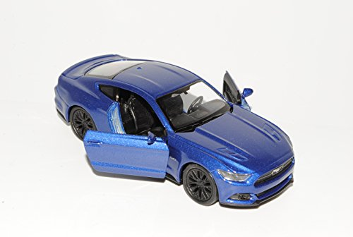 Welly Ford Mustang VI Coupe Blau Ab 2014 ca 1/43 1/36-1/46 Modell Auto