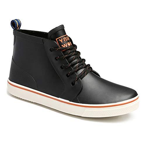 Gtagain Sneakers Regenstiefel Herren - Wasserdicht Gummistiefel Winddicht Freizeitschuhe Schnürschuhe Kurzschaft Sportschuhe Stiefel (Schuhe ist Kleiner)