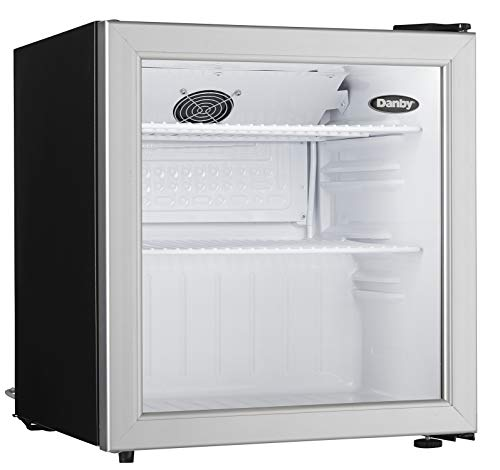 Danby Compact DAG016A1BDB 1.6 Cu.Ft. Commercial Mini Fridge, Glass Door Refrigerator For Office, Countertop, Perfect For…