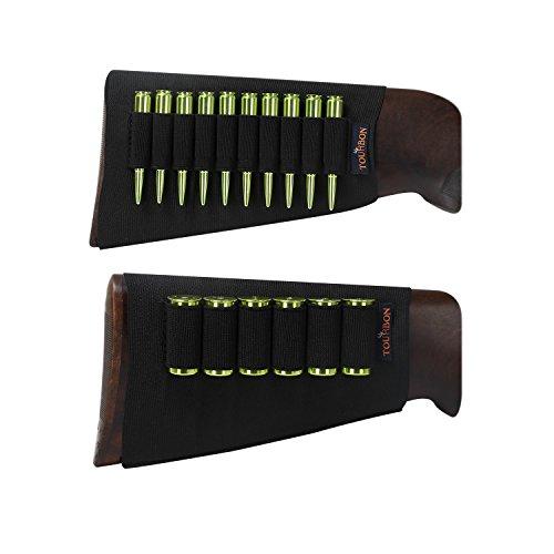 TOURBON - Soporte para cartucho de escopeta de rifle elástico con mangas de amor