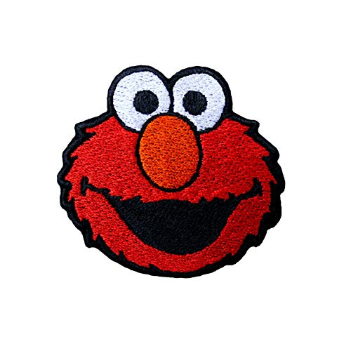 Emporium Emroidery Elmo Aufbügler, für Jacke, Jeans, Applikation, Tasche, Kappe, Kinder Cartoon, *, 80