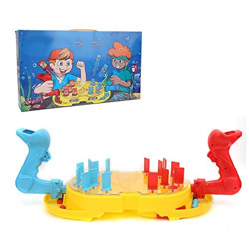 Tnfeeon Pädagogisches Desktop Spiel Spielzeug, U-Boot-Hegemonie Brettspiel Kinder Interaktive Schlacht Katapult Brettspiel Meerestiere Schießmaschine Spielzeug