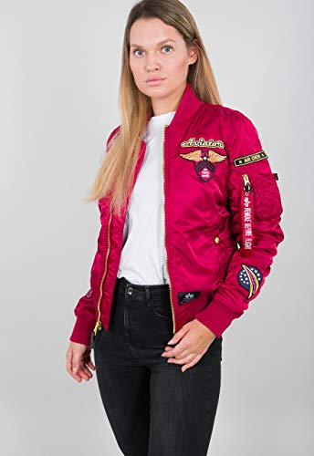 Alpha Industries MA-1 Custom Damen Jacke Burgunderrot S