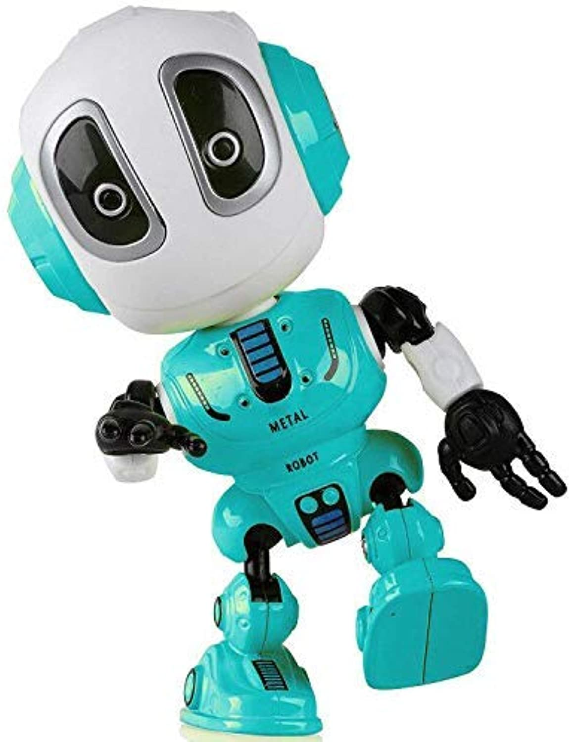 Elflight Talking Robot Kids Toys,Metal Mini Robot Body Record Toy for Boy and Girl Gift (bluee)