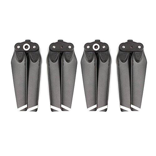 Kingwon 2 Paar Propeller für DJI Spark -Faltbarer Schnellspann 4730 Prop Blade Ersatzpropeller Zubehör (White Stripe)