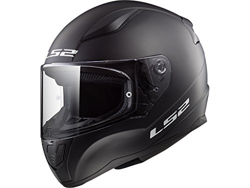 Casco integral de color negro mate