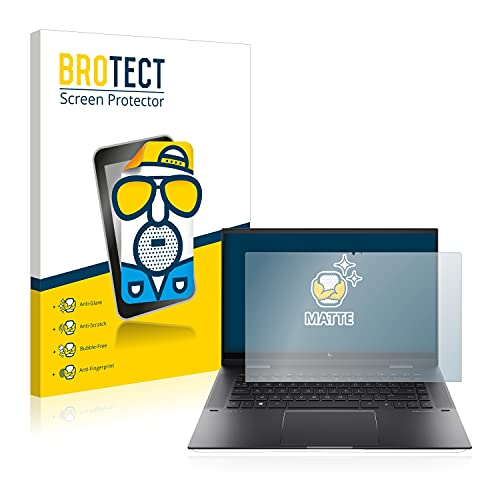 BROTECT Entspiegelungs-Schutzfolie kompatibel mit HP Envy x360 15-eu0178ng Bildschirmschutz-Folie Matt, Anti-Reflex, Anti-Fingerprint