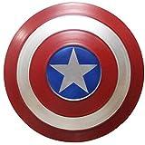 ABDOMINAL WHEEL Vengadores Marvel Escudo del Capitán América Metal,Escudo Modelo de Accesorios de Mano 1:1,Disfraz De Superhéroe para Cosplay para Niños Escudo A,47CM