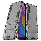 Max Power Digital Funda para Xiaomi Mi A3 (6.08') con Soporte - Carcasa Híbrida Antigolpes Resistente (Xiaomi Mi A3, Gris)