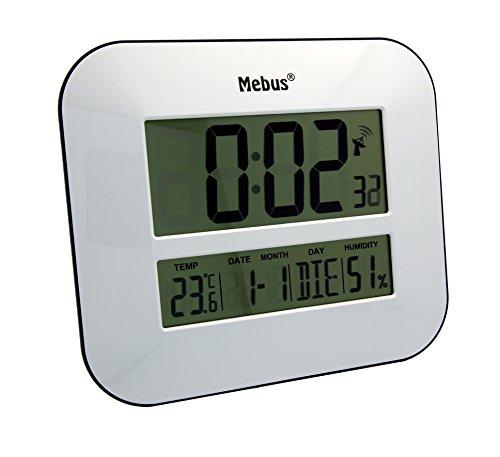 Mebus Unisex Wanduhren Digital weiß 41247
