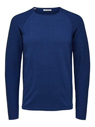 Selected heren gebreide trui SLHCARTER Crew Neck Fashion