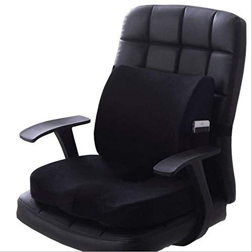 YangFan Asiento de coche de oficina de masaje cojín de espuma de memoria U asiento de masaje silla cojín de espalda corto de felpa almohada de protección coxis cojín ortopédico