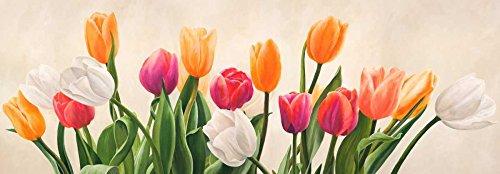 Feeling at home Kunstdruck-auf-GEROLLTE-LEINWAND-cm_78_X_225-Villa-Luca-Nel-giardino-mio-Blumen-Bild-auf-LEINWAND-380gr-100%-Baumwolle
