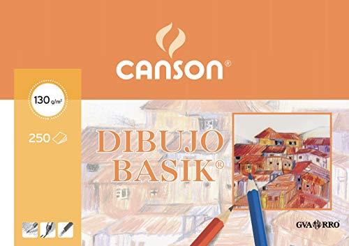 Canson 402766 - Papel para Dibujo, 250 Hojas, A3, 130 g, Color Blanco