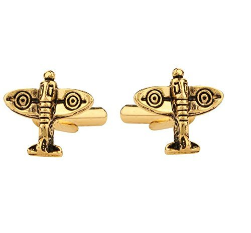 Sataanreaper Presents Manschettenknöpfe Für Männer Goldenen Gold-Aero Flugzeug Shape Design Für Von Fice Unternehmenspartei-Französisch Manschette Hemden Hemd-Klage-Blazer #Sr-451