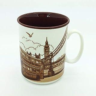 Sterling Product SP142A Premium Quality Embossed Printed 300 ml Coffee Mug, Ceramic, 300 milliliters