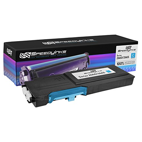 Speedy Inks Compatible Toner Cartridge Replacement for Dell C2660 C2660dn C2665dnf High-Yield (Cyan)