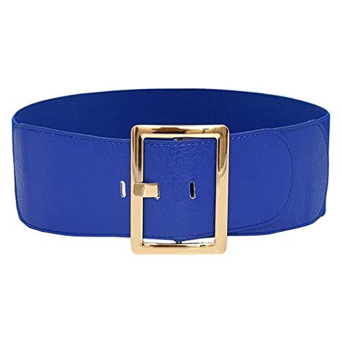 Cinturón Moda Mujer Fajín cinturón ancho Elástico Ajustable decoración Accesorios Colores Variados para en Ocasiones Formales y Uso Diario