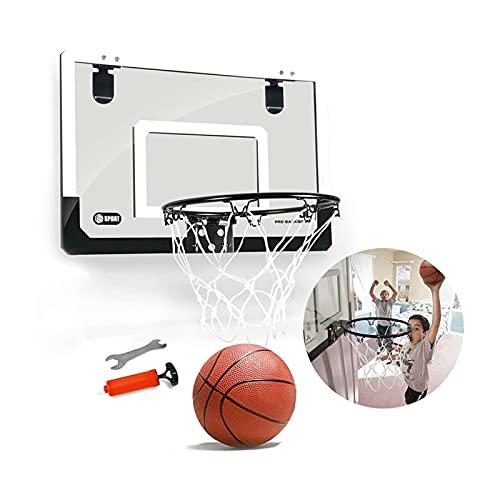 Aro de Baloncesto para Colgar en el hogar Mini aro de Baloncesto, Marco de la Puerta del Dormitorio de la Oficina Soporte de Baloncesto montado en la Pared, Utilizado para la práctica de clav