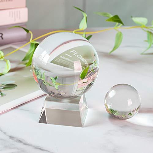 CROSYO 1 unid 100 mm Lensball Clear Crystal Ball K9 Sating Sphere Sphere Posts Nuevo Lente de Cristal Artificial Bolas Decorativas (tamaño : 70mm)