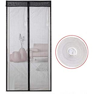 JUE Guo Magnetic Curtain Anti-Mosquito Ventilation Curtain Full Frame Strong Encryption Magnetic Screen Door Bedroom Kitchen Soft Band Velcro Summer Household Band Velcro Door Screen Grid Screen Door:Isfreetorrent