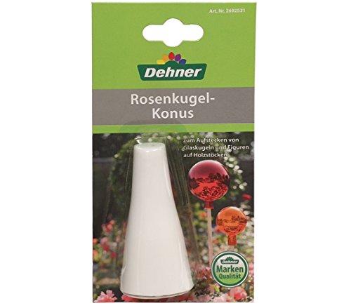 Dehner Rosenkugel Konus, zum Auflegen von Rosenkugeln, ca. 18 x 10 x 4 cm, weiß