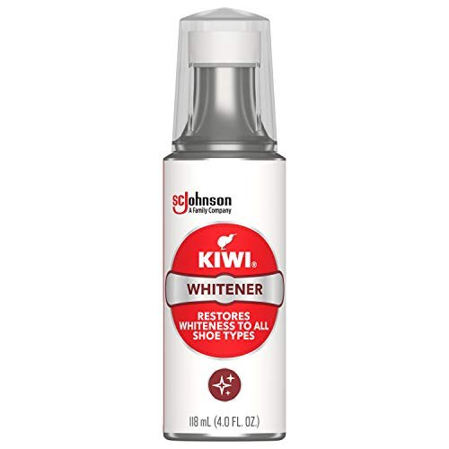 KIWI Shoe Cleaner and Whitener | For Leather, Vinyl, Canvas, Nylon and More | 4 Fl Oz | Includes Sponge Applicator
