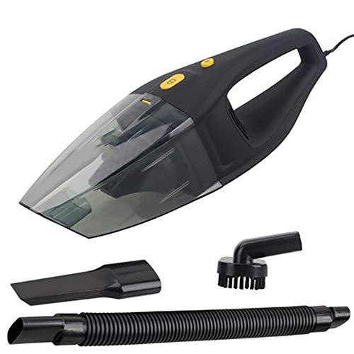 FEGNWUTANG stofzuiger voor auto, 12 V 3 in 1, krachtige droogzuiger met stroomkabel van 5 meter (5 meter), zwart