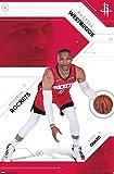Trends International NBA Houston Rockets - Russell Westbrook, 22.375' x 34', Premium Unframed