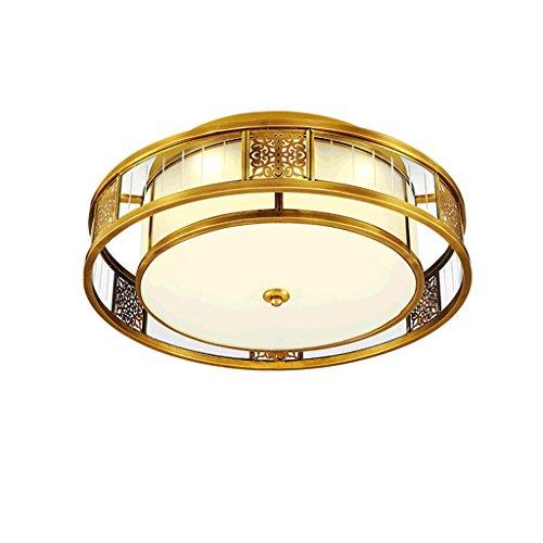No Band Romantische verstelbare hanglamp, rond, LED-plafondlamp, koper, lamp waterdicht voor de Corridor 410