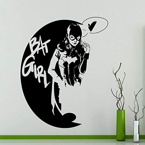 Calcomanía de pared para niña murciélago Marvel Comics superhéroe estilo fresco pegatina de vinilo para ventana dormitorio de niña sala de juegos decoración del hogar papel tapiz