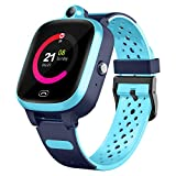 Efolen 4G Smart Watch for Kids - Smartwatch with GPS WiFi LBS Tracker Real Time Position HD Touch Screen SOS Video Call Waterproof Message Compatible Android and iOS for Boys Girls (Blue)